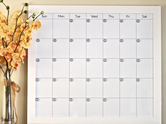 Extra Large Magnetic Dry Erase Custom Framedmillcreekpress Wooden 3 Month Calendar Frame