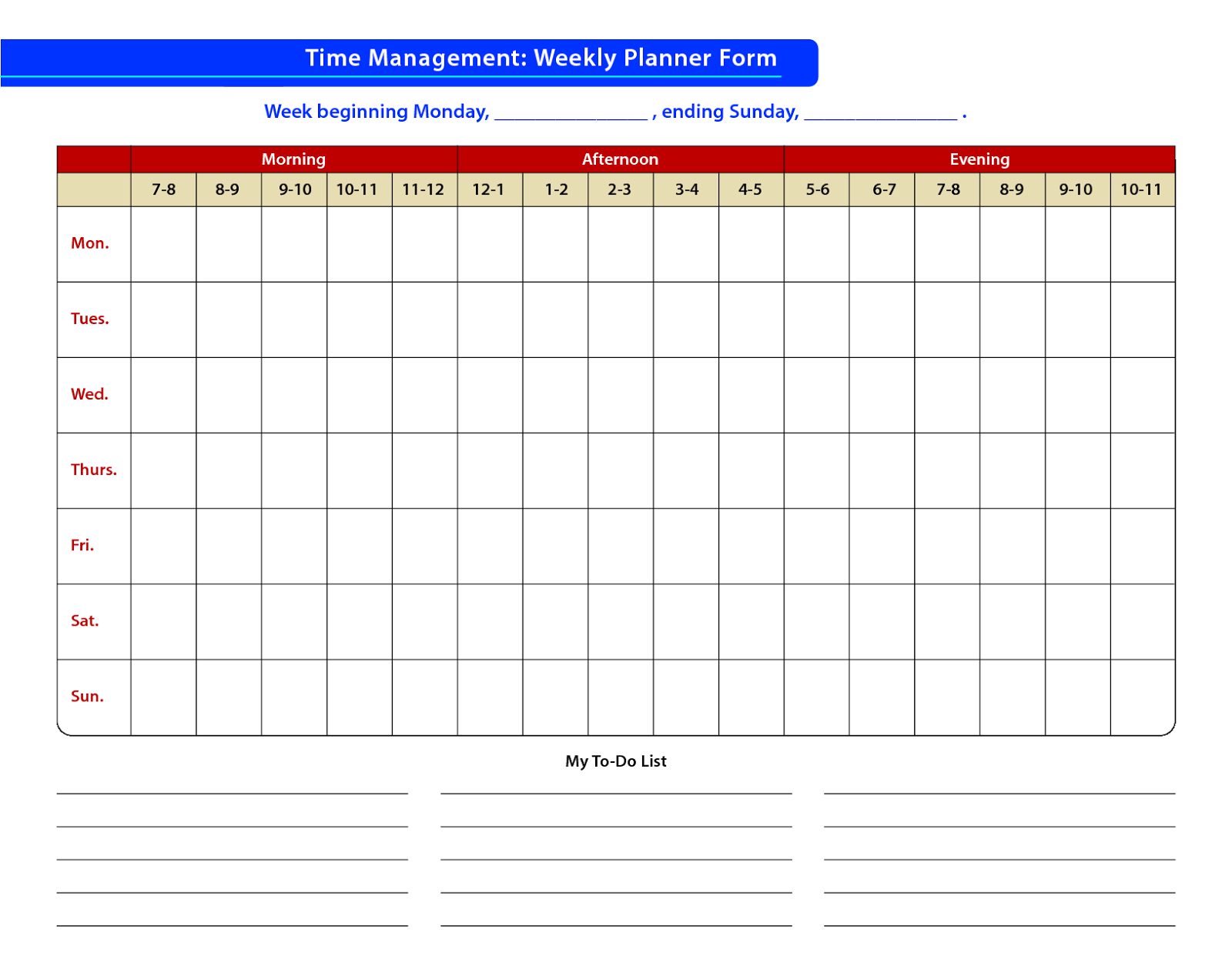 Faudzil.blogspot: Time Management - Sample Of Time Free Templates For Time Management