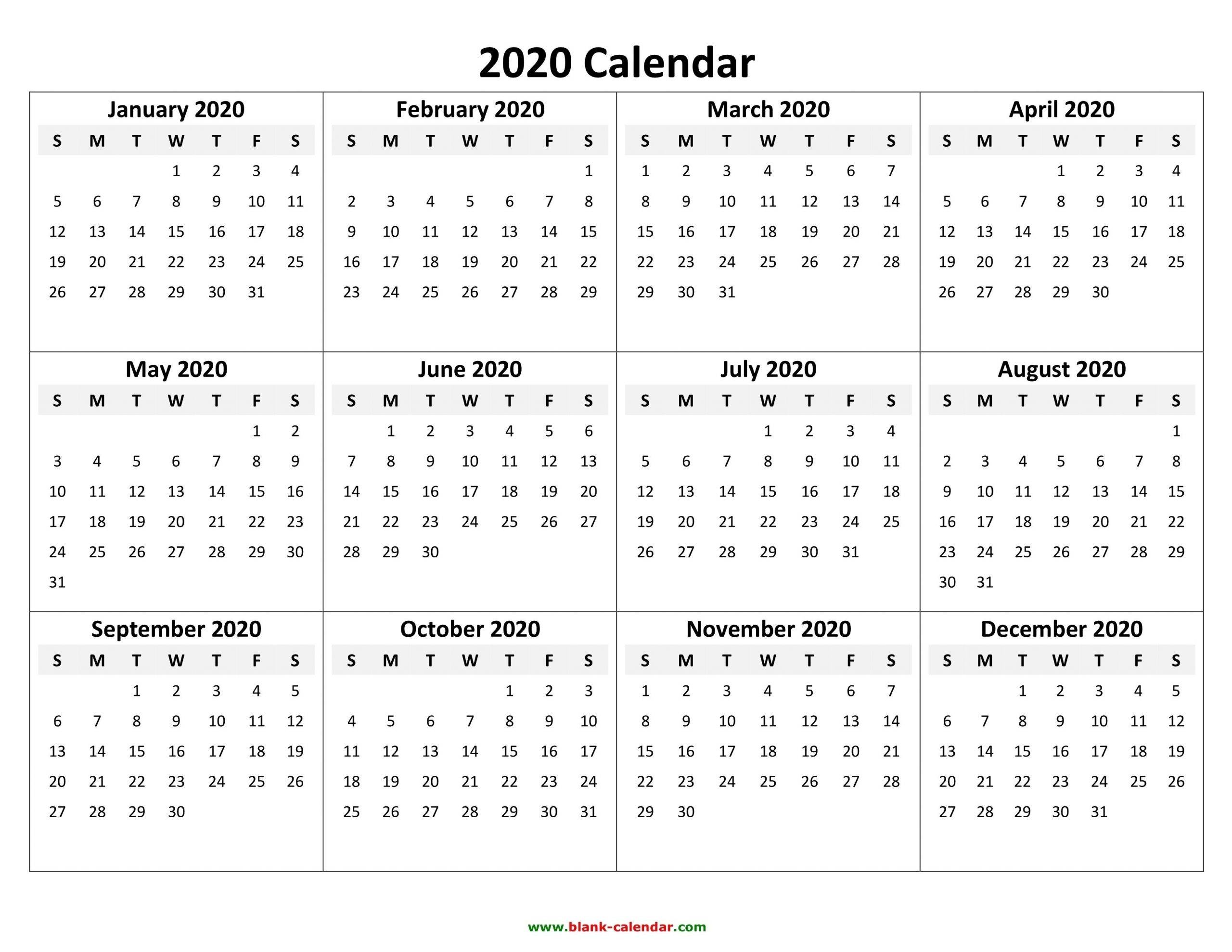 Fill In Calendar Template 2020 | Calendar Template Printable Calendars To Fill In And Print