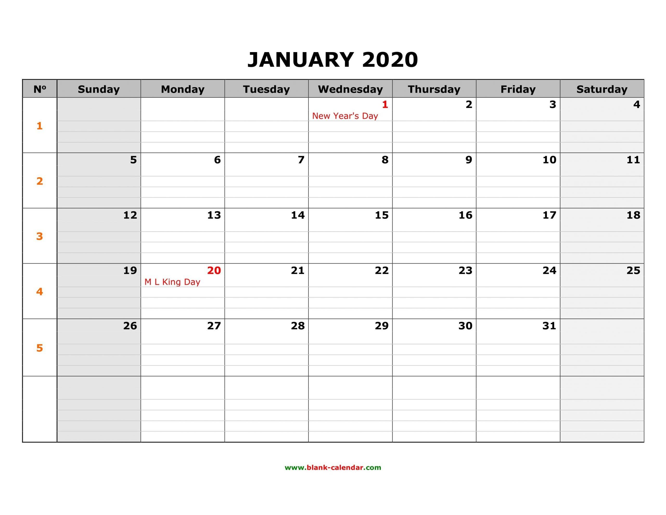 Fill In Monthly Calendar 2020 | Calendar Template Printable Free Fill In Calendars