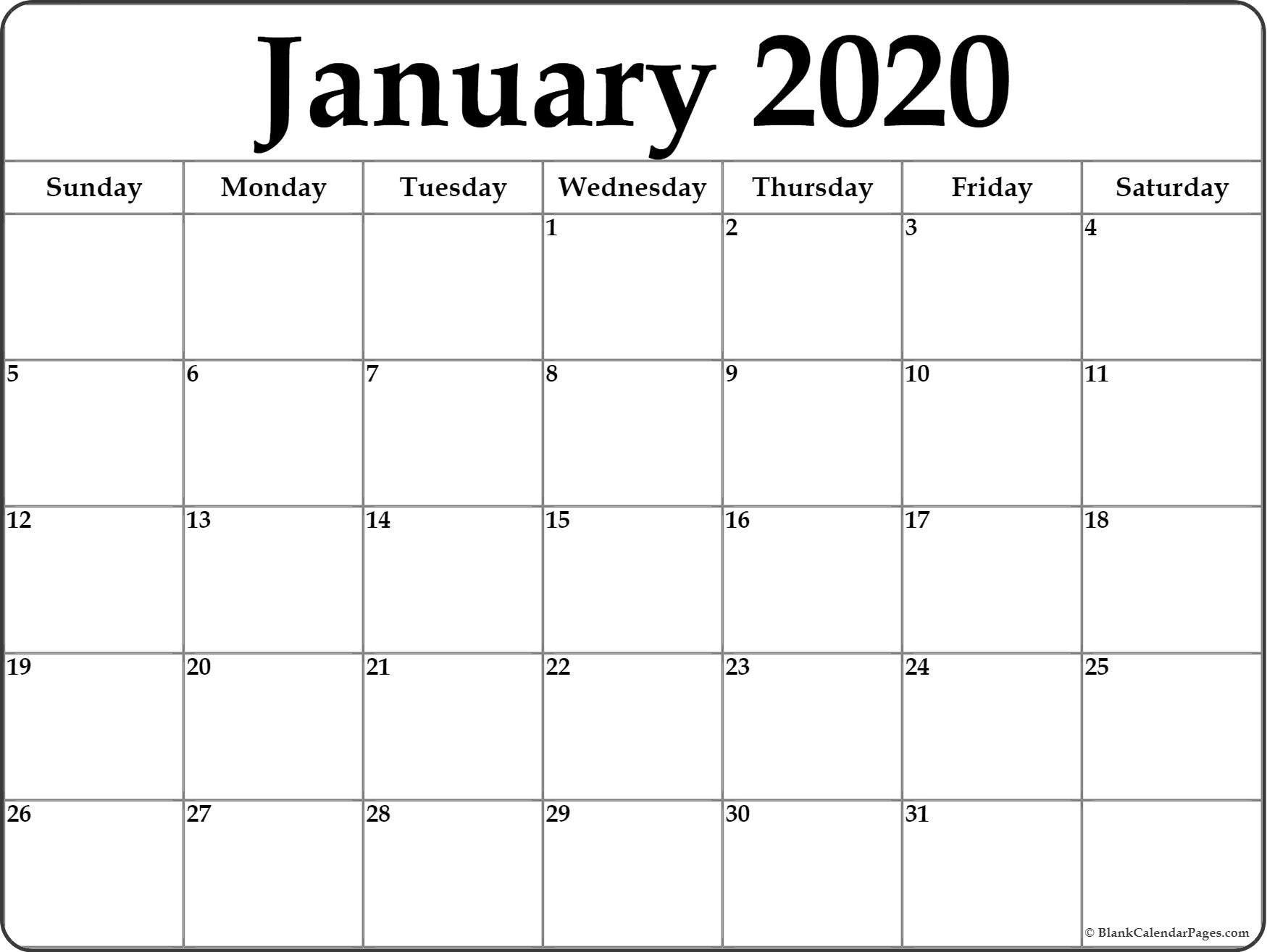 Fill In Monthly Calendar 2020 | Calendar Template Printable Free Printable Fill In Calendars
