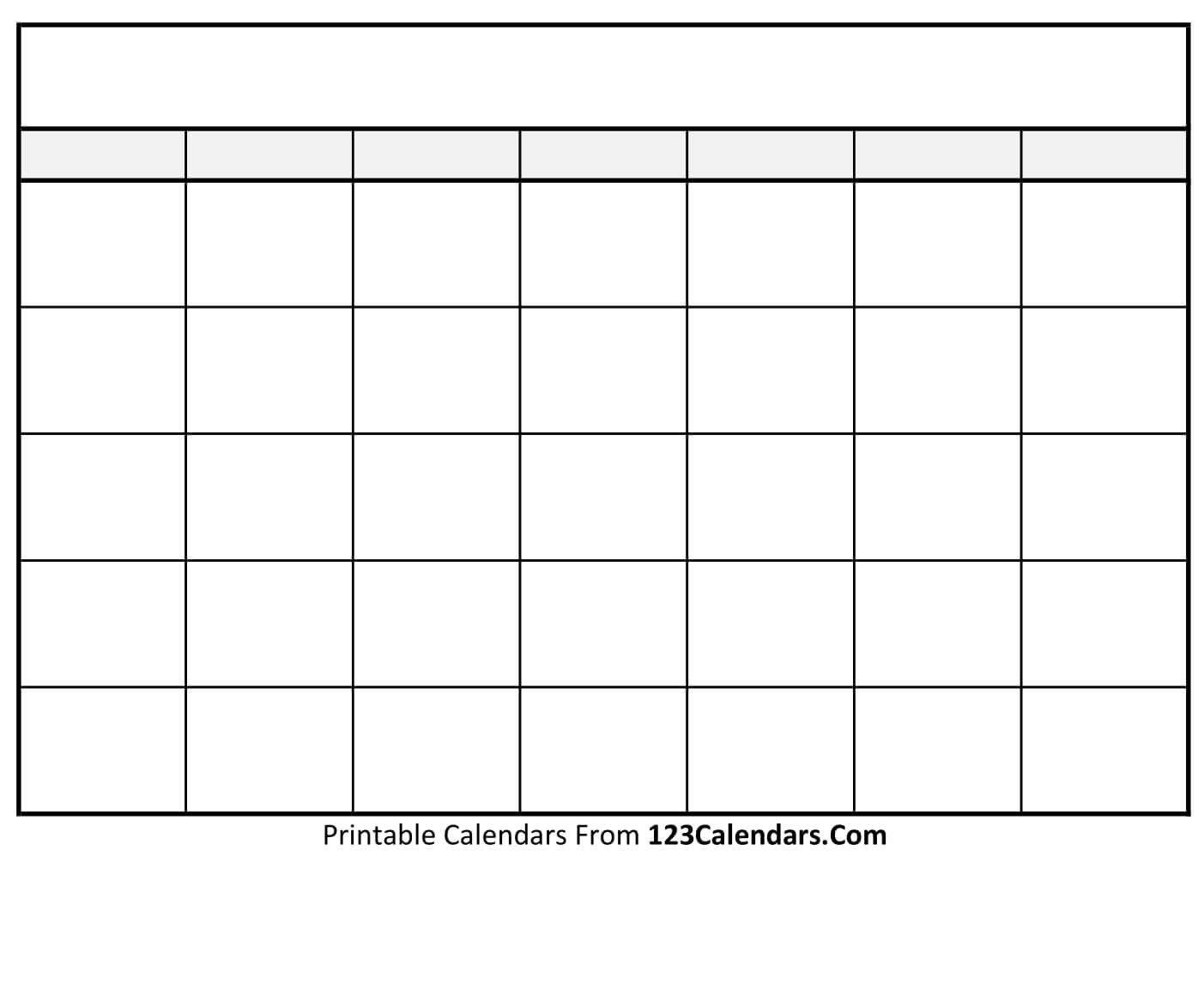 Fill In Printable Calendar Templates   Calendar Template Free Fill In Printable Calendars