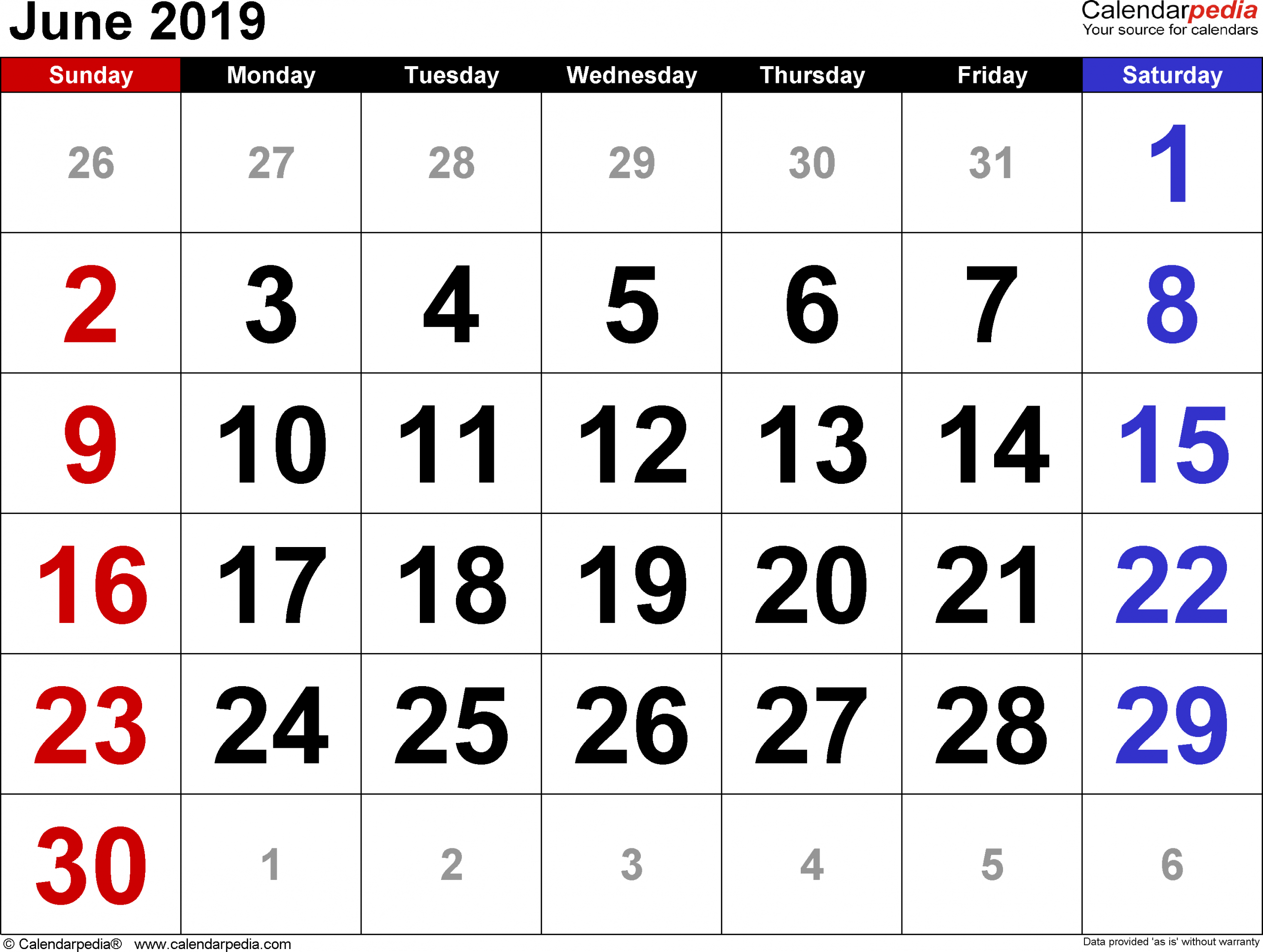 Fill In The Blank July 2919 Calendar | Example Calendar Fill In June Calendar