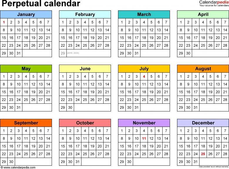 Five Year Calendar Excel :-Free Calendar Template 5 Year Calendar Template