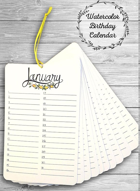 Free 14+ Birthday Calendar Templates In Google Docs | Ms Printable Birthday Calendar Free