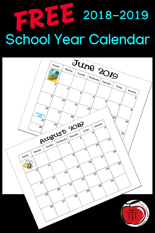 Free 2019 2020 School Year Calendar | School Calendar Free School Calendars For Teachers