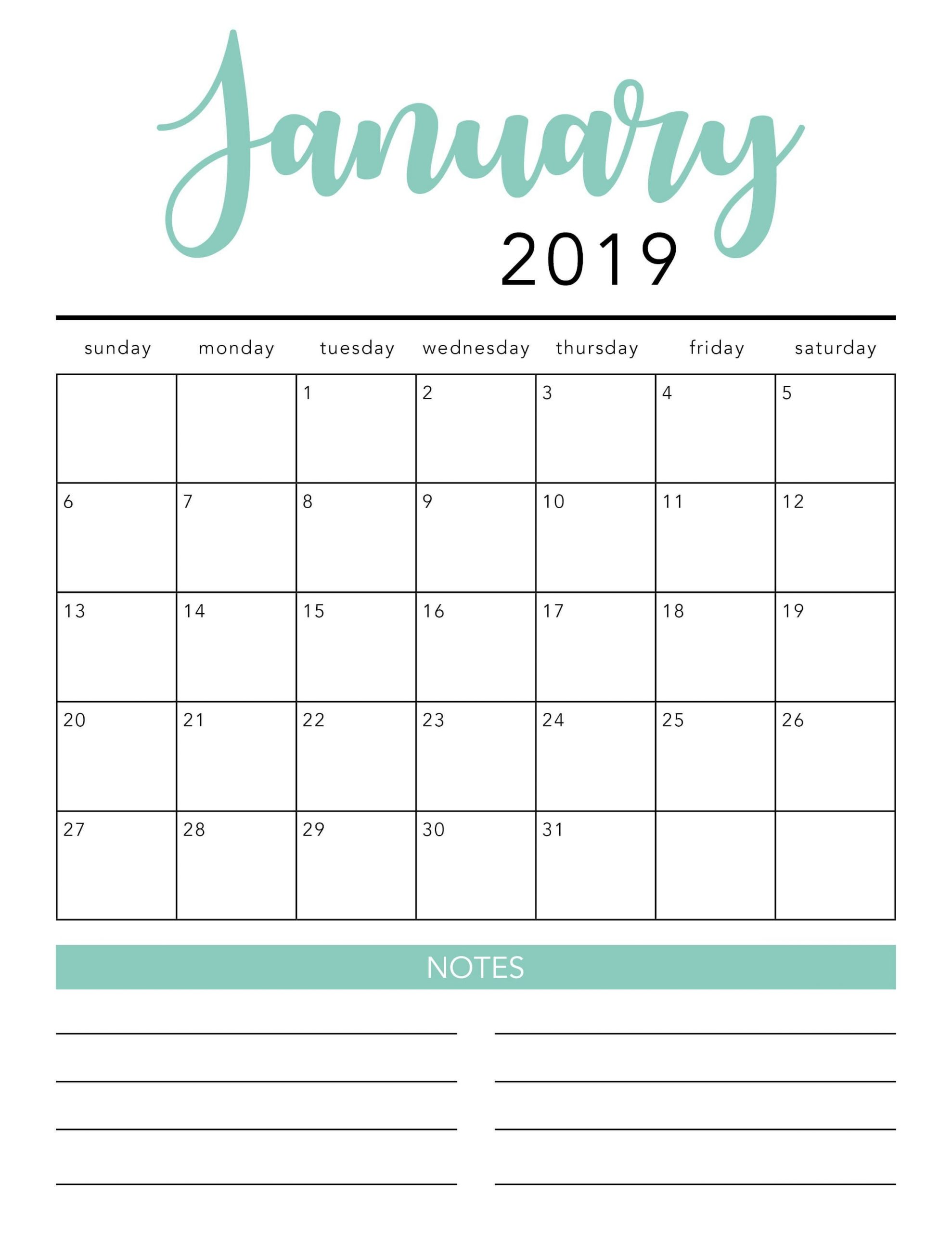Free 2020 Printable Calendar Template (2 Colors!) - I 3 Month Calendar Printable Free