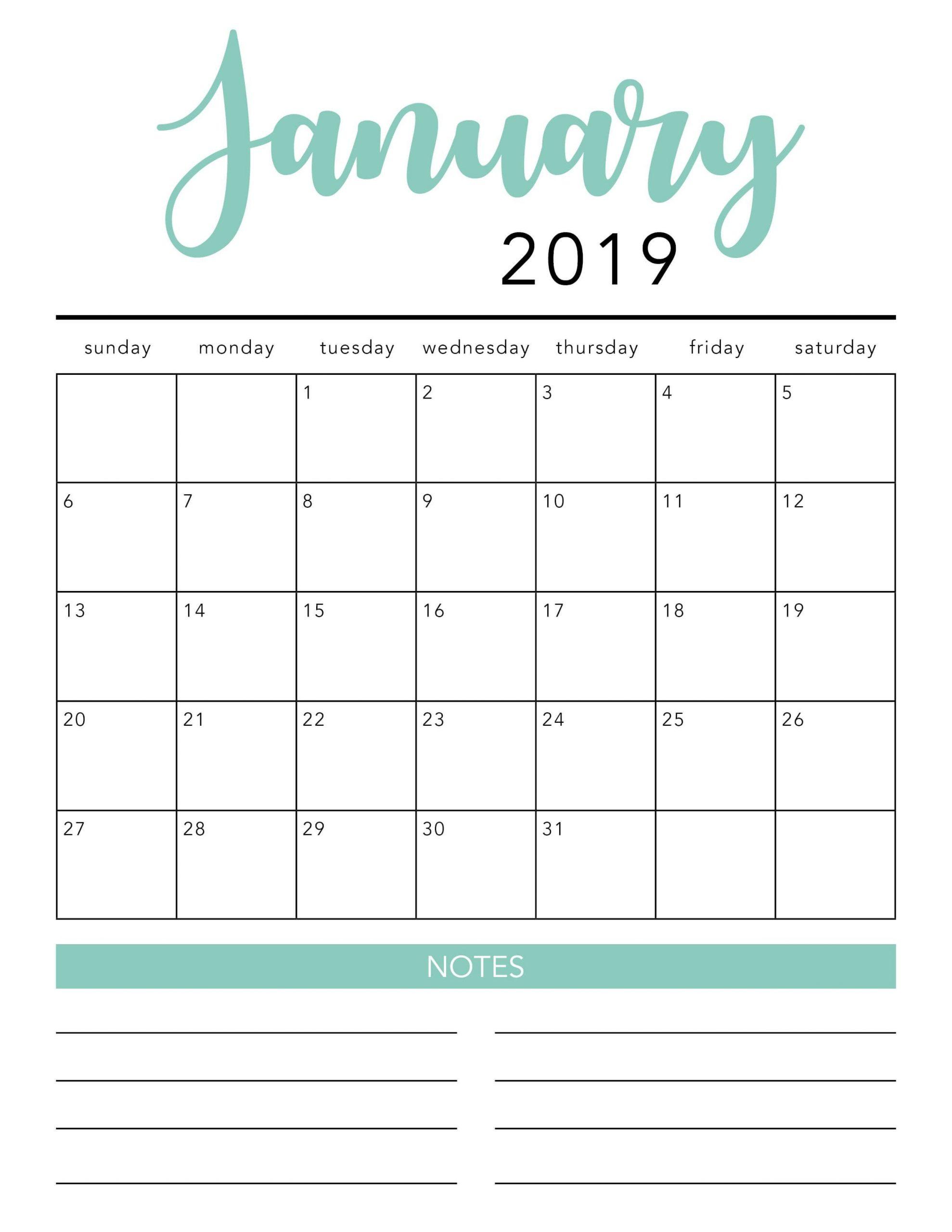 Free 2020 Printable Calendar Template (2 Colors!) - I 3 Month Calendar Template Printable