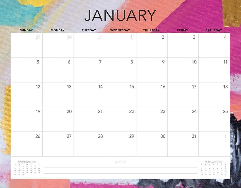 Free 2020 Printable Calendars - 51 Designs To Choose From! Free Printable Calendar Without Downloading