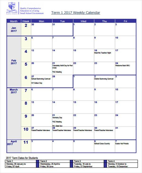 Free 25+ Blank Calendar Templates In Pdf | Ms Word 8 Week Calendar Doc