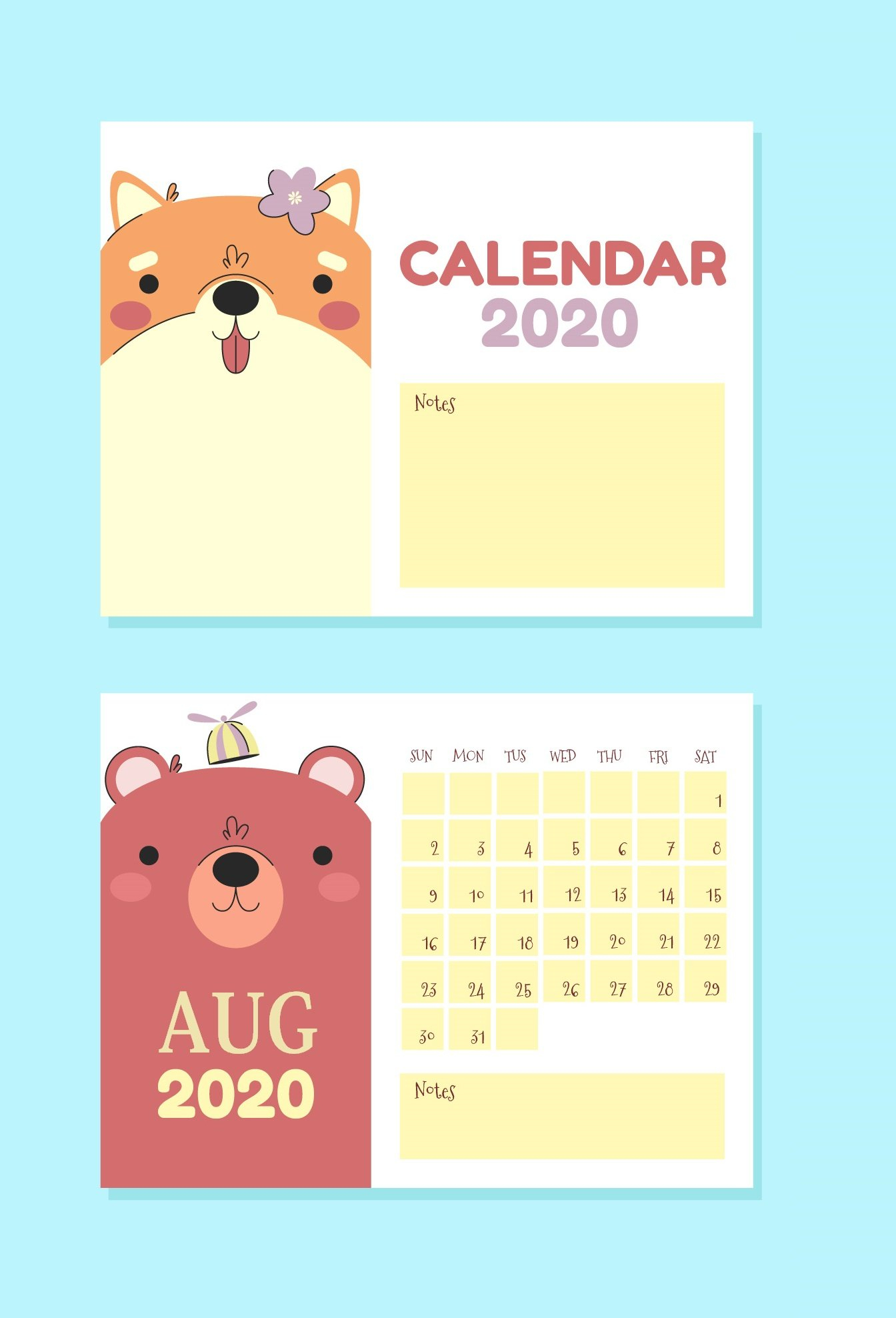 Free August 2020 Wall Calendar | Calendar 2020 Free 2020 Calendar With Days Counted 1-365