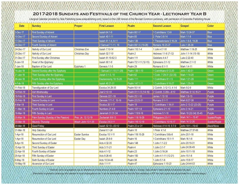 Free Catholic Liturgical Calendar For 2020 - Calendar Free Church Calender Images