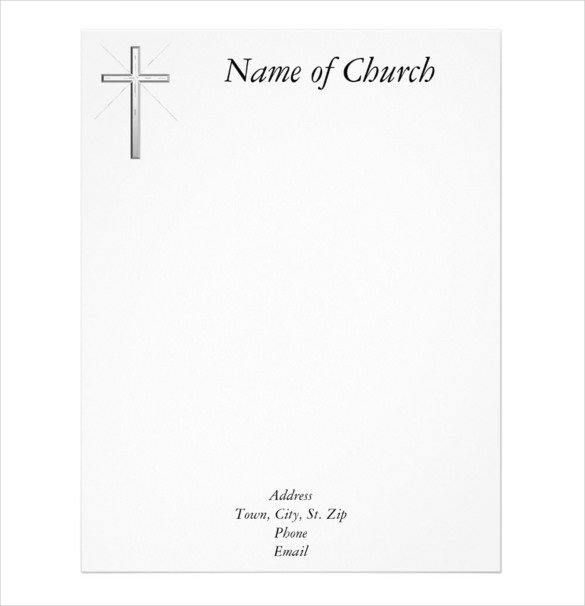 Free Church Letterhead Templates | Free Printable Letterhead Free Printable Of Churches