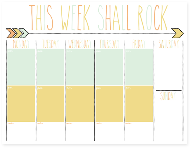 Free Daily And Weekly Planner Printables | I Should Be Printable 2 Week Calendar Template