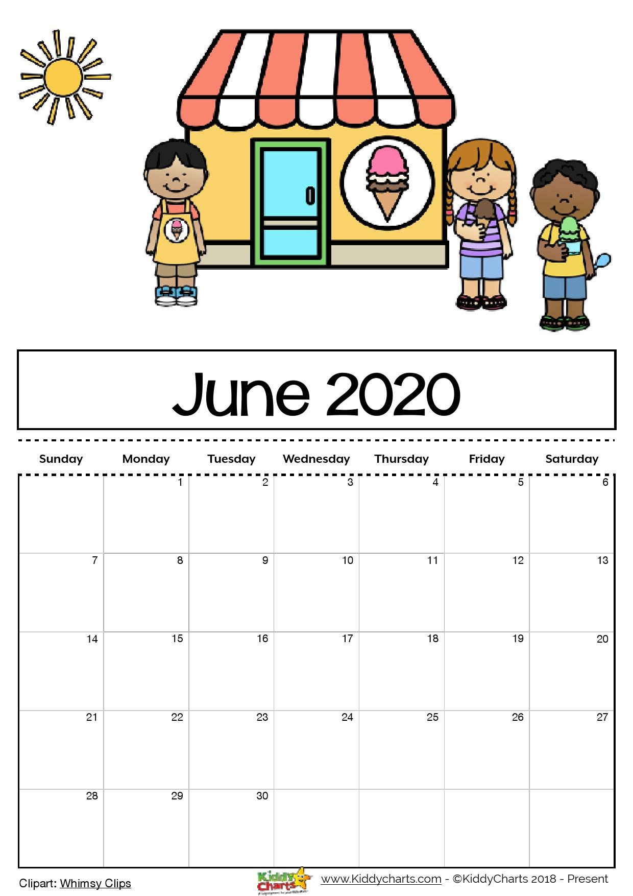 Free Printable 2020 Calendar For Kids, Including An Calendars You Can Edit Online