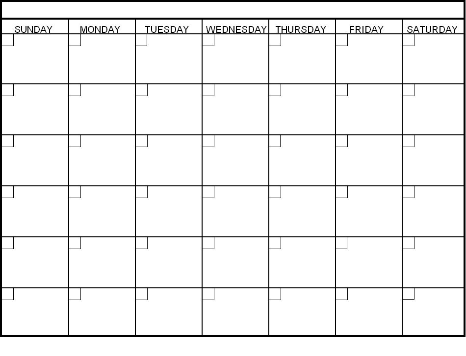 Free Printable Blank Calendars To Fill In : Free Calendar Calendar To Fill In And Print