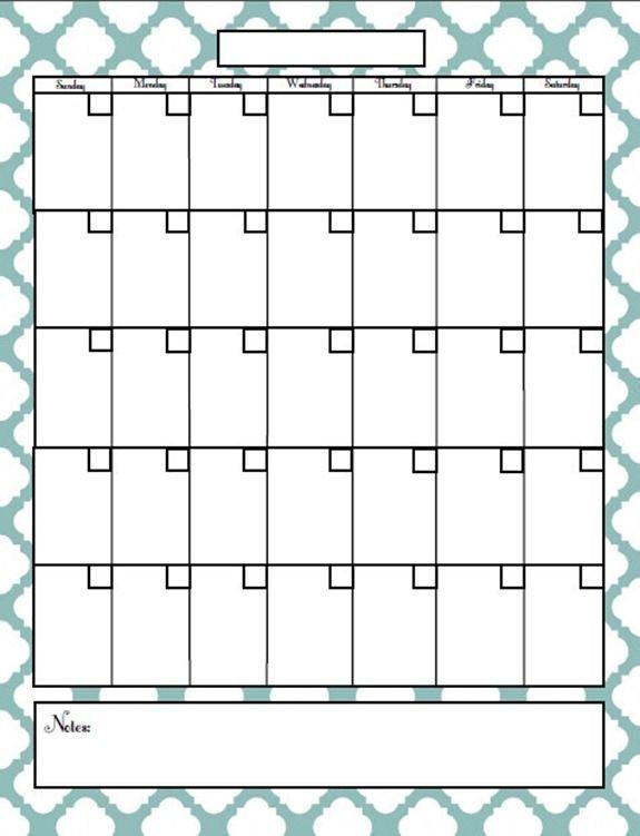 Free Printable Blog Planner | Blank Calendar Pages Printable Blank 30 Day Calendar