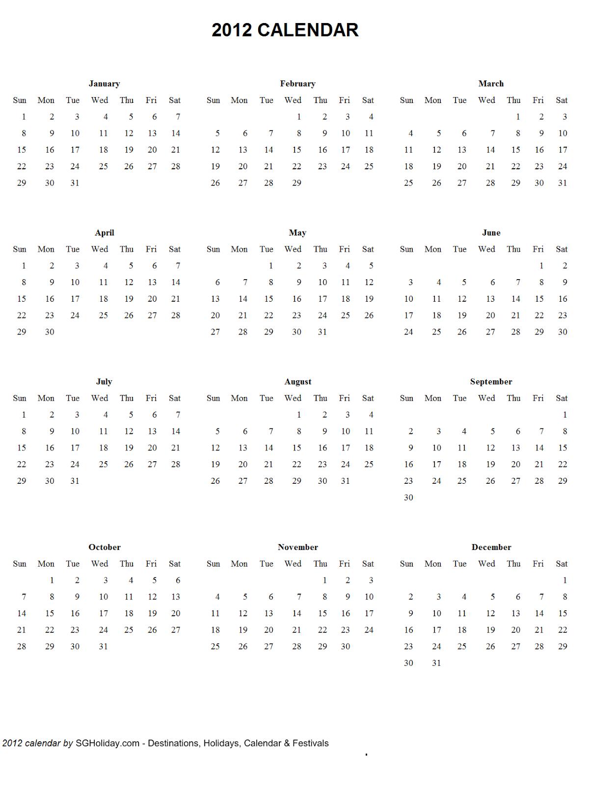 Free Printable Calendar 2018: July 2011 Free 4 Year Calendar Printable