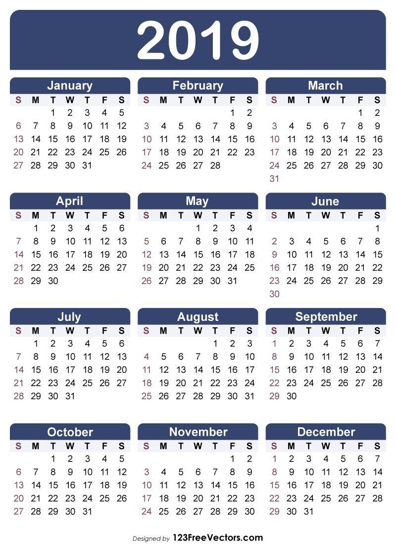 Free Printable Calendar 2019 | Free Printable Calendar Calendars You Can Modify
