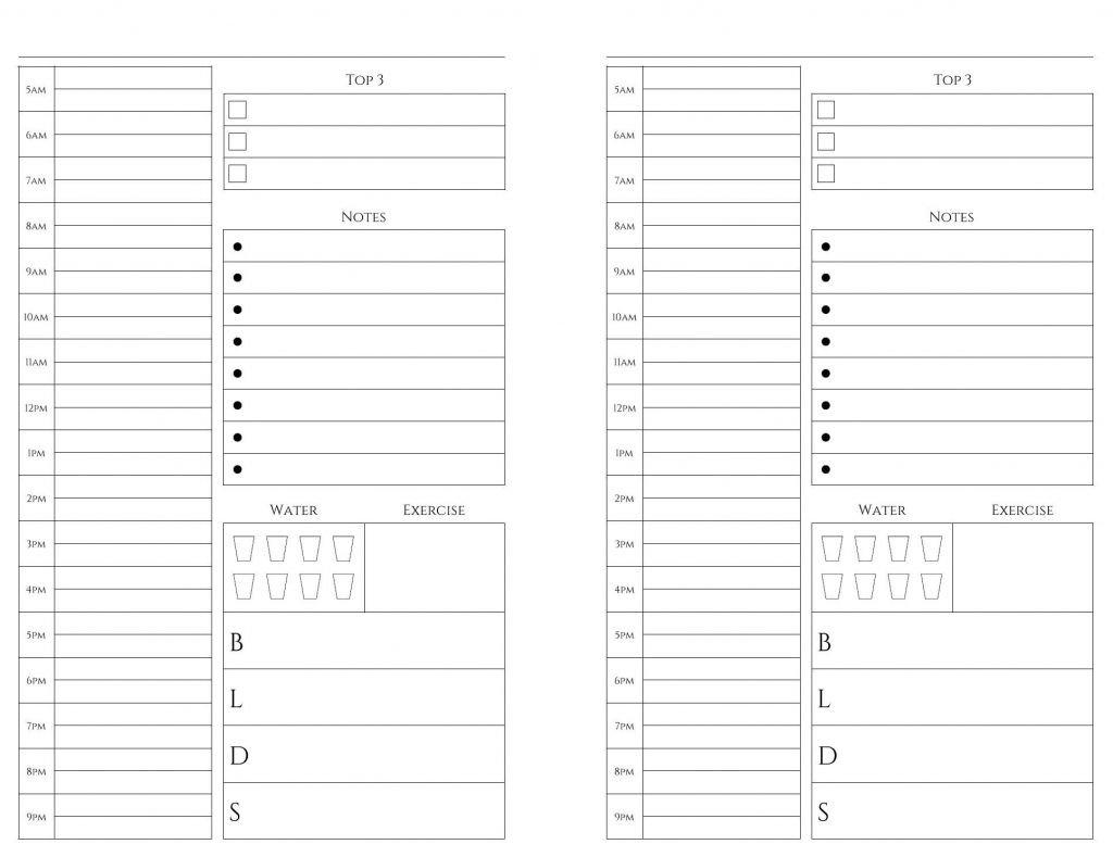 Free Printable Calendar 5.5 X 8.5 In 2020 | Calendar Weekly Planner Template 5.5