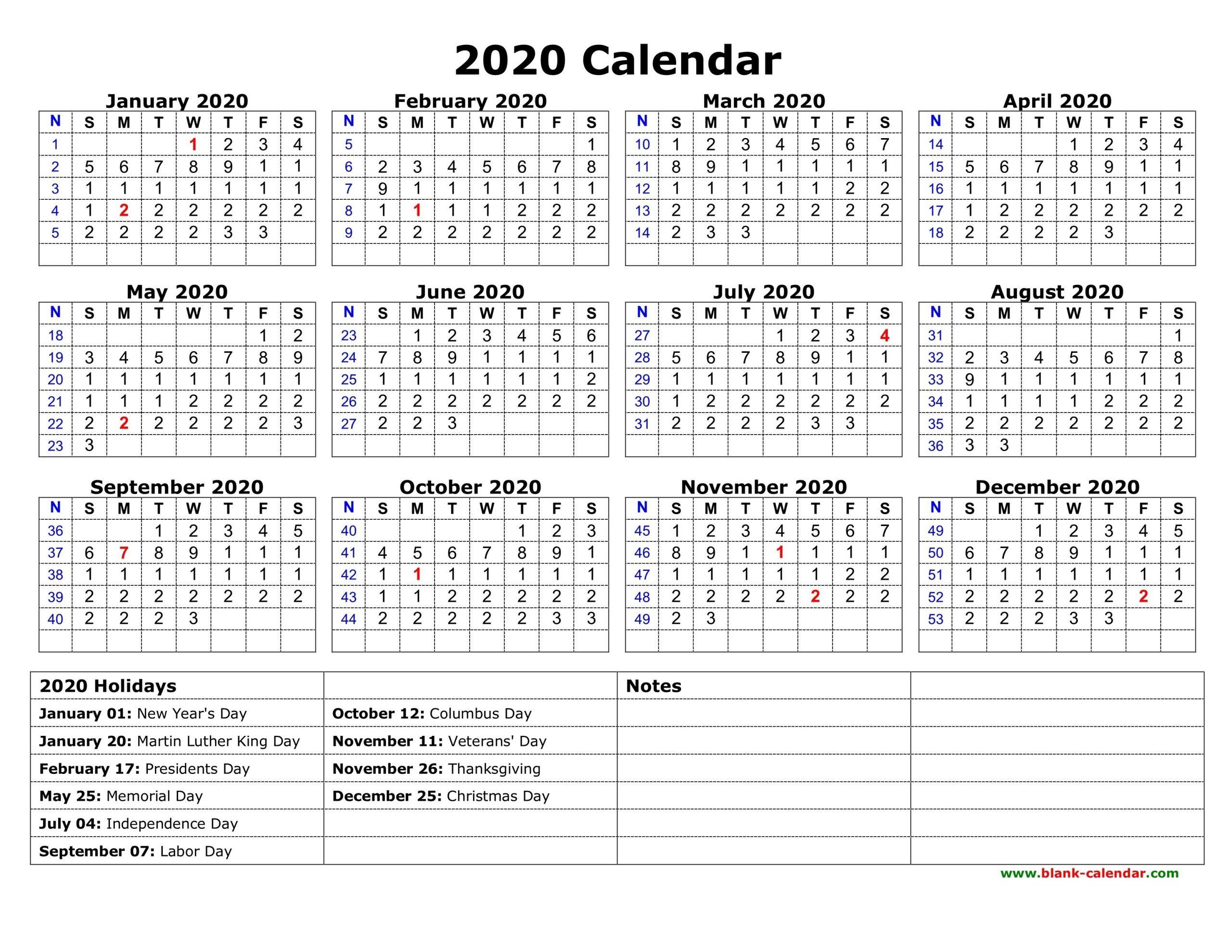 Free Printable Calendars 2020 With Holidays | Qualads Holiday Time Off Calendar Excel