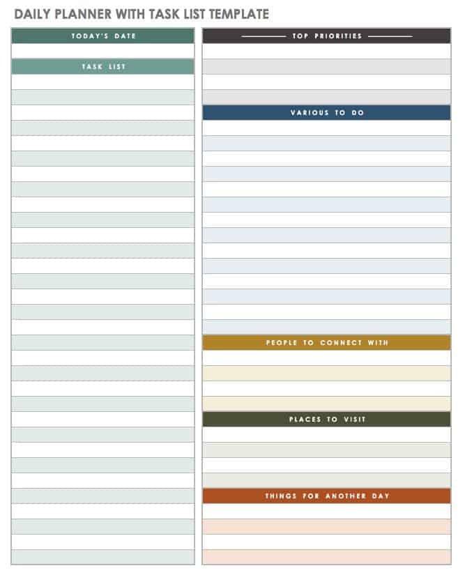 Free Printable Daily Calendar Templates | Smartsheet Daily Hourly Calendar Printable
