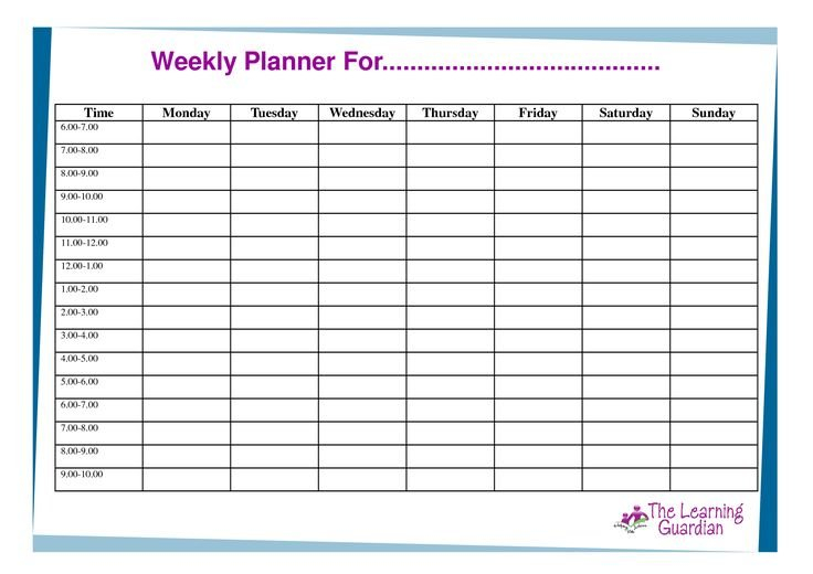 Free Printable Weekly Calendar Templates | Weekly Planner Editable Two Week Employee Schedule