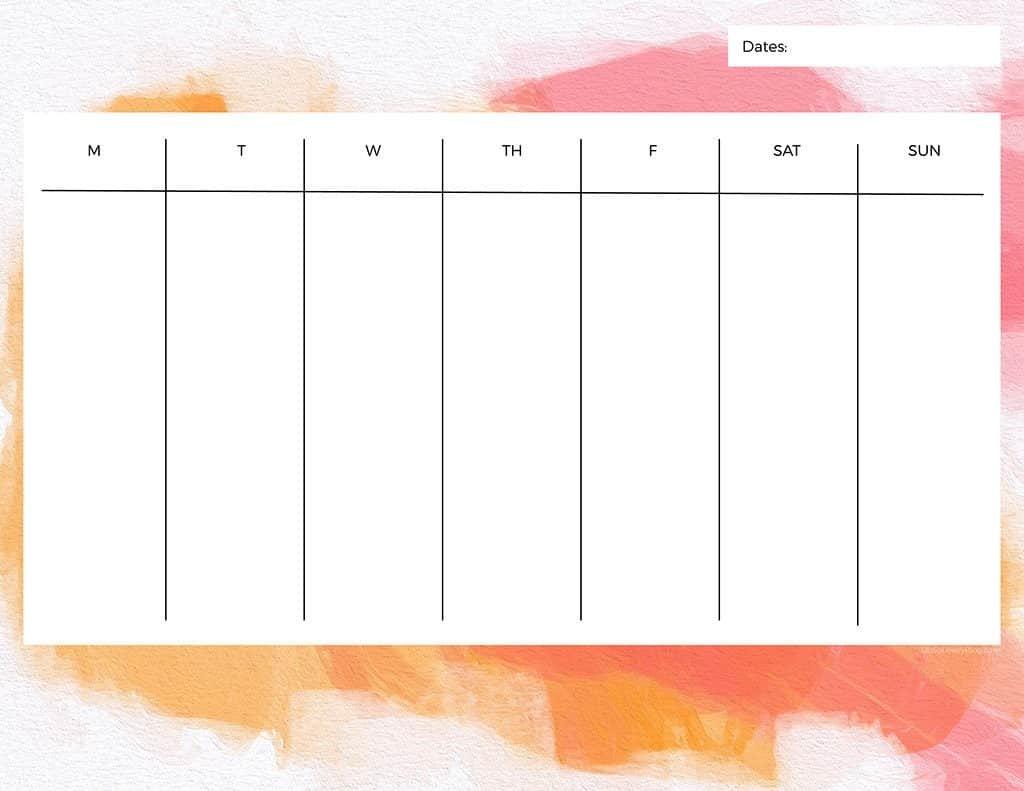 Free Printable Weekly Calendars — Get Your Week Organized! Calendar Two Week Printable
