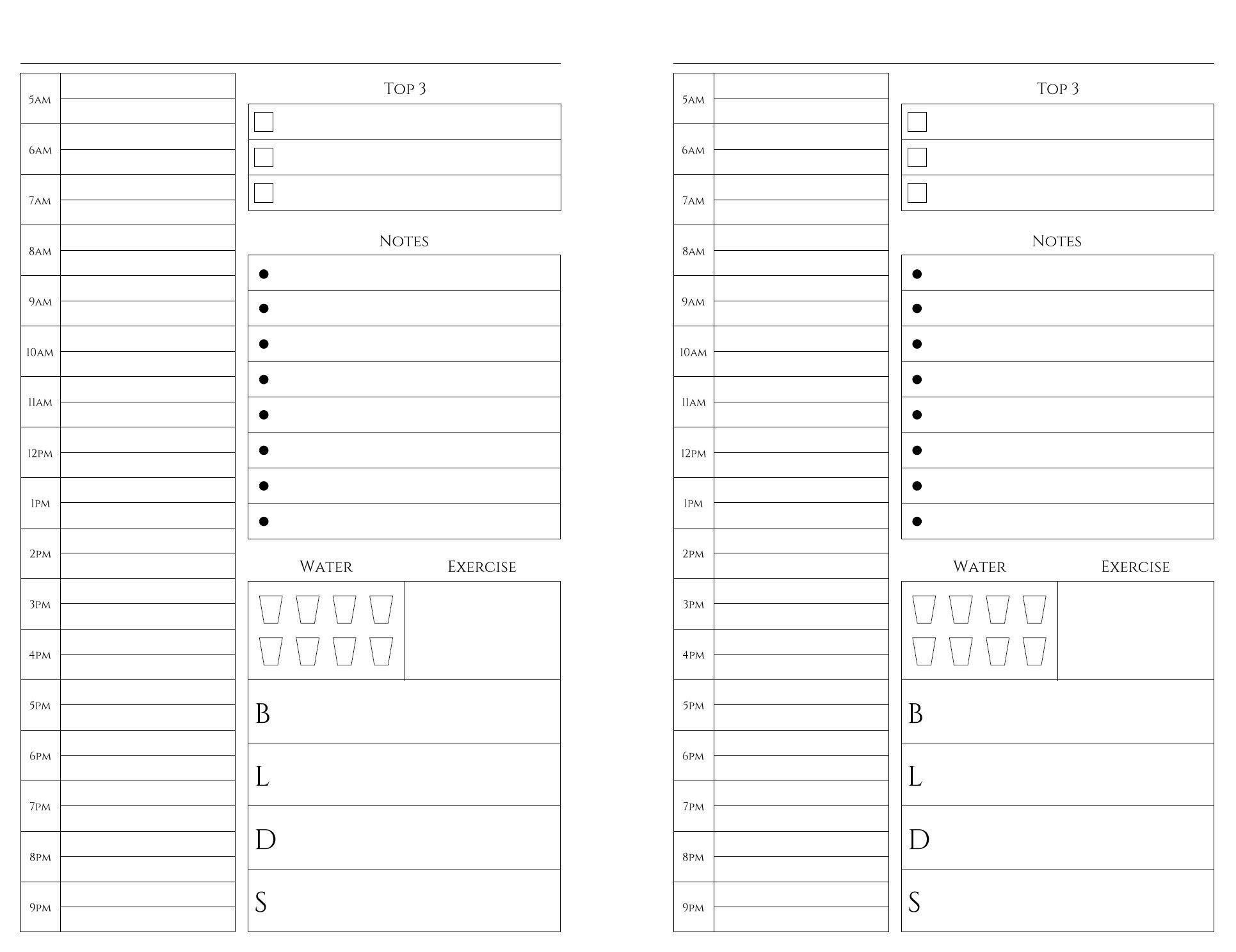 Free Printables | Weekly Planner Printable, Daily Planner Libreoffice 5.5 X 8.5 Calendar