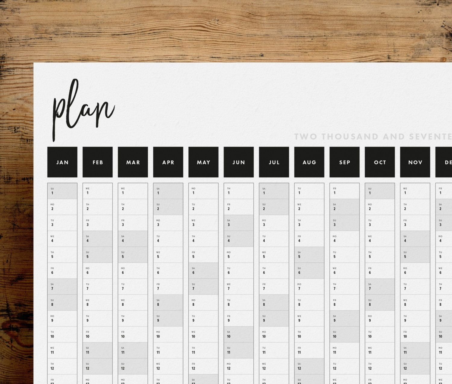 Get A Head Start On 2017 With This Practical And Stylish Free Printable 5 Year Calendar