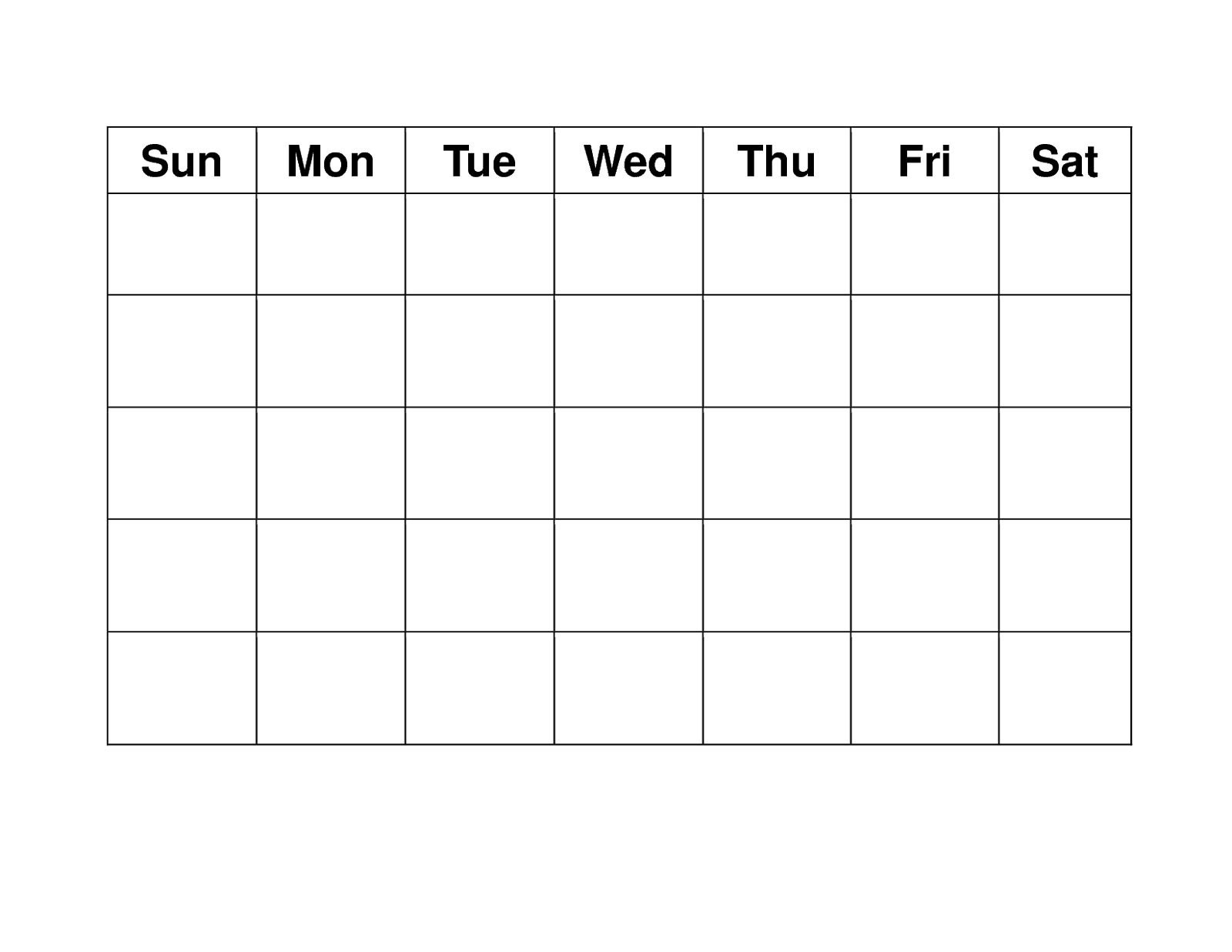 Get Blank Weekly Calendar To Fill In   Blank Calendar Free Fill In Printable Calendars