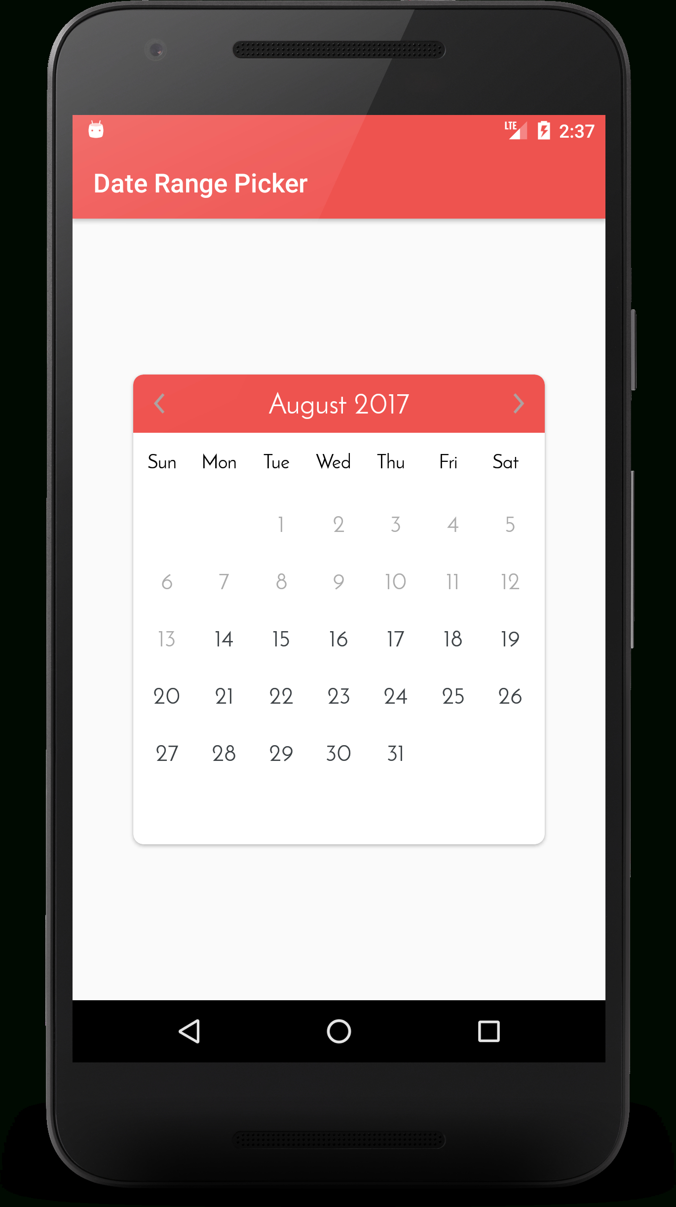 Github - Kibotu/Xamarin.awesome.calendar: An Android Custom Date Range Calendar