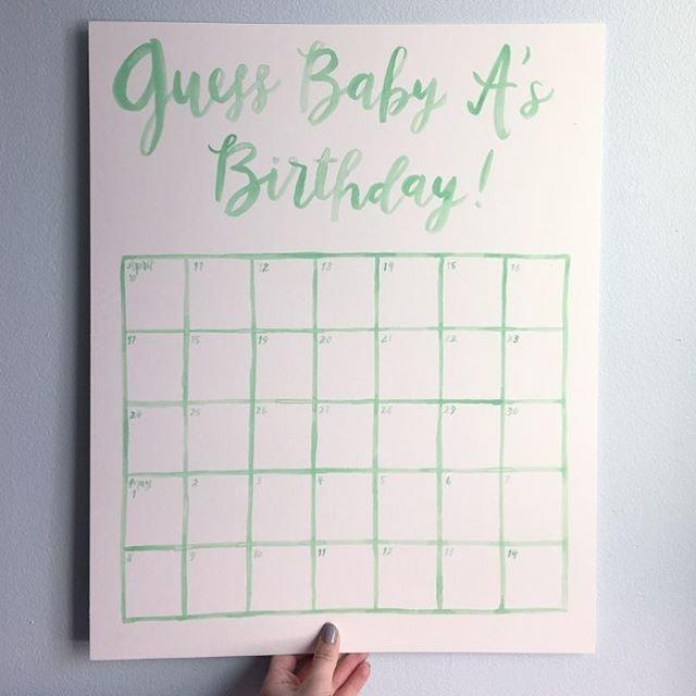 """Guess The Birthday!"" Calendarhello, Bird. (Baby Guess Baby Birthday Calendar"
