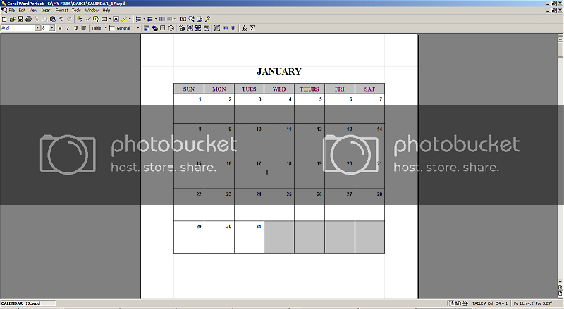 Help! How Do I Get To Fill The Screen On My Monitor Where Is Wordperfect Calendar