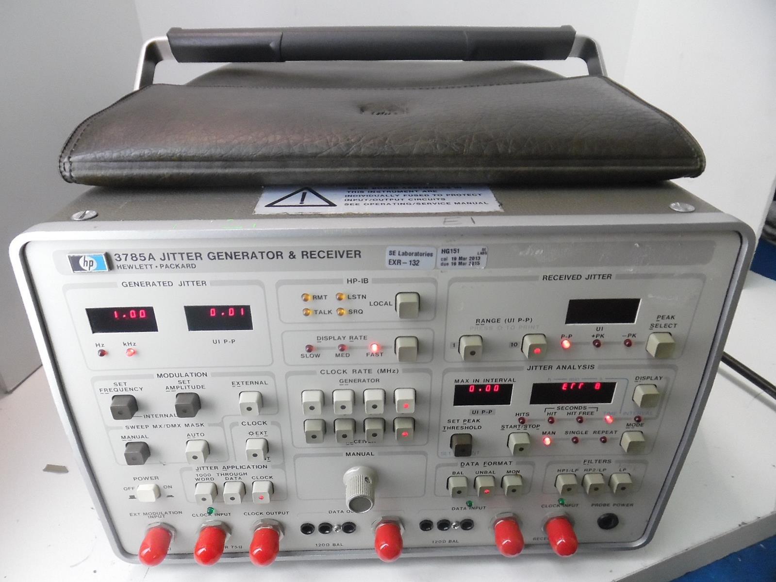 Hewlett Packard 3785A Hp/Agilent Jitter Generator Hewlett Packard Templates For Calendars