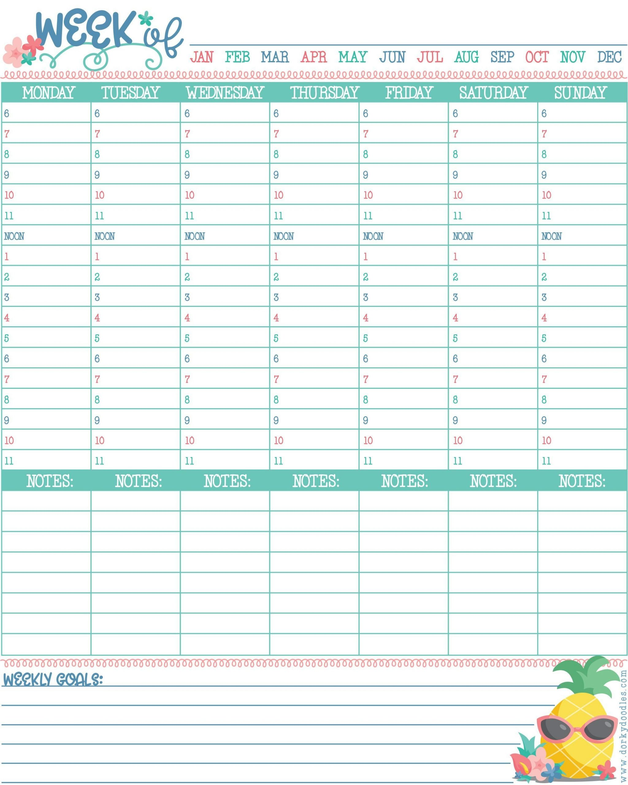 Hourly Planner Printable | Hourly Planner, Printable Free Copy Of Daily Hourly Calendar