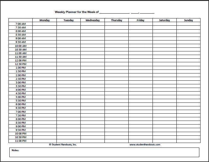 Hourly Schedule Template – Task List Templates Printable Calendar By Day And Hour
