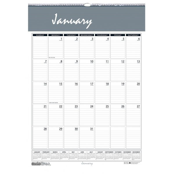 """House Of Doolittle 331Hd Bar Harbor 8 1/2"""" X 11"""" Recycled 8 1/2 By 11 Inch Monthly Calendar"""