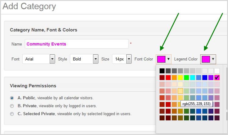 How To Color-Code Event Titles - Calendarwiz / Knowledgebase Free Color Coded Calendars
