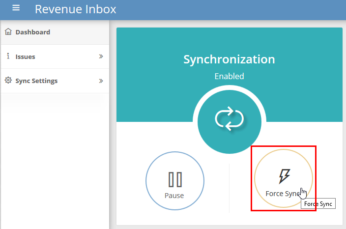 How To Open Sync Dashboard - Revenue Inbox Knowledge Base How Often Do Cozi And Outlook Sync