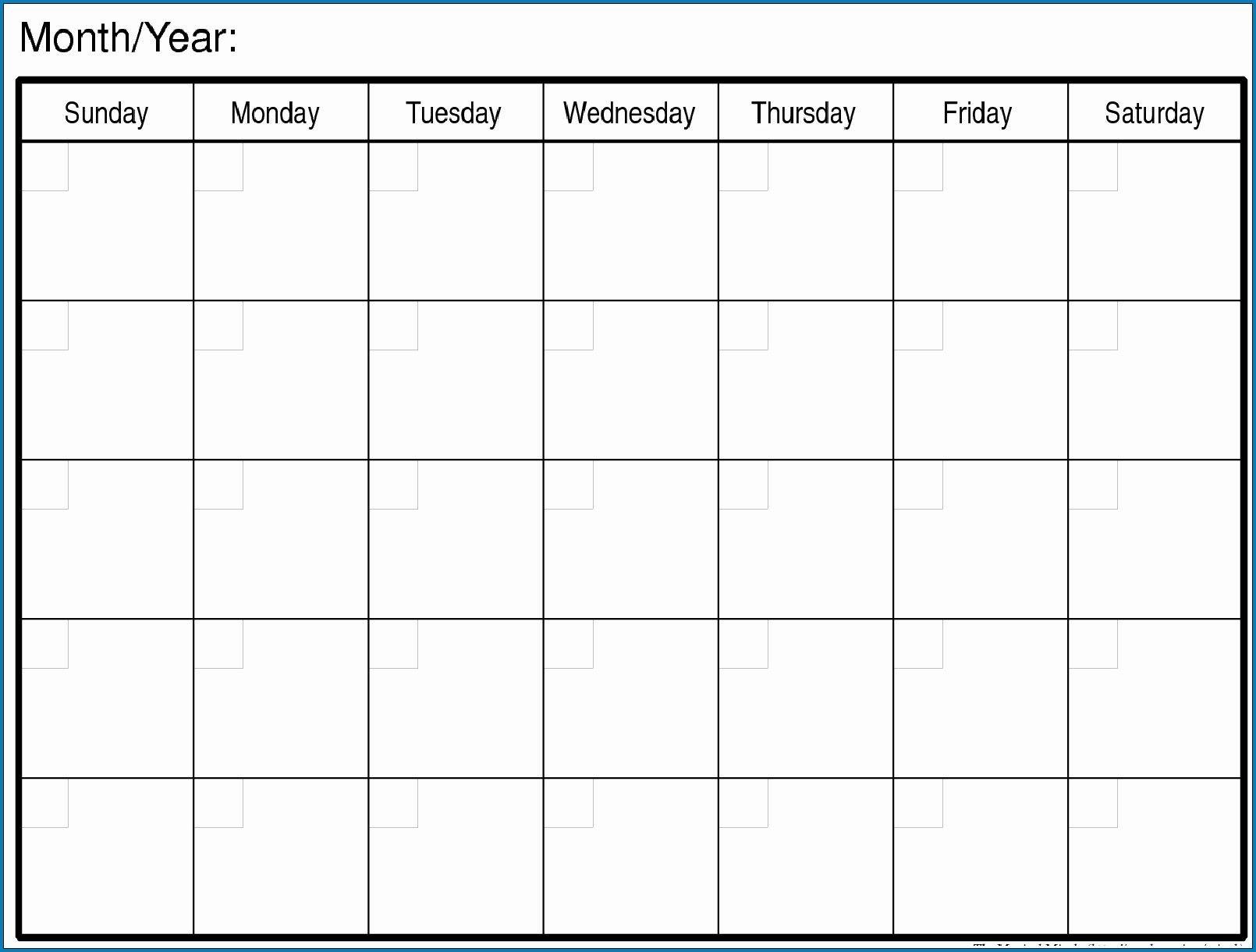 How To Printable Monday Through Friday Monthly Calendar Free Printable Blank Calendar Monday Friday