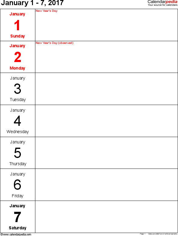 Image Result For Journal Seven Day Blocks For A5 | Weekly 7 Day Router Blank