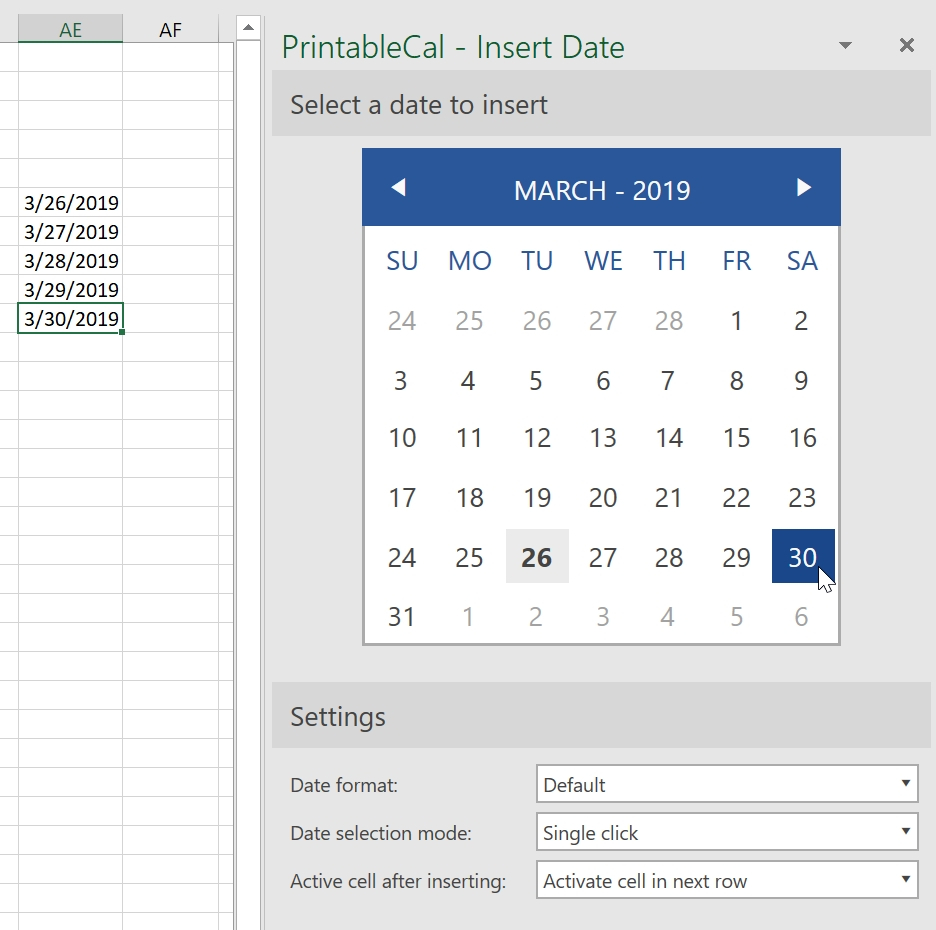 Insert Date Picker Drop Down Menu In Excel 2020   Calendar Excel Add Calendar Drop Down Into A Template