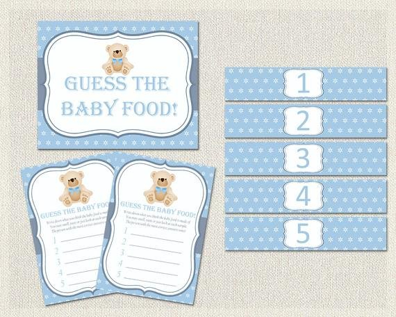 Items Similar To Guess The Baby Food Guess The Baby Food Guess The Baby Printable