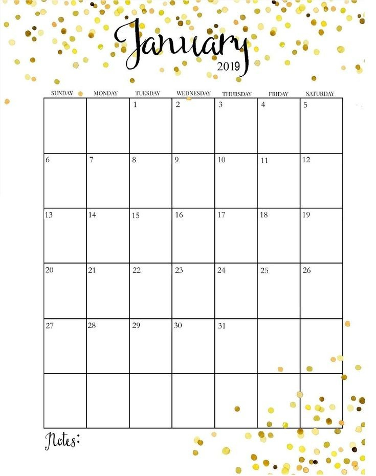 January 2019 Calendar Vertical #Printable # Calendear That I Can Edit With Holidays On It