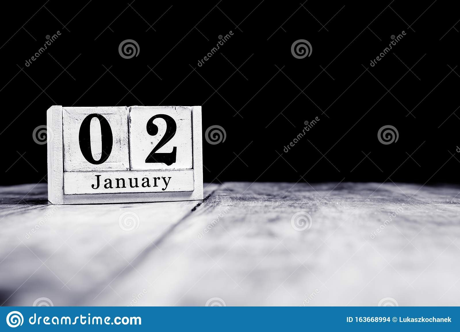 January 2Nd, 2 January, Second Of January, Calendar Month Image Of A Calendar With 2Nd Of Month Highlighted