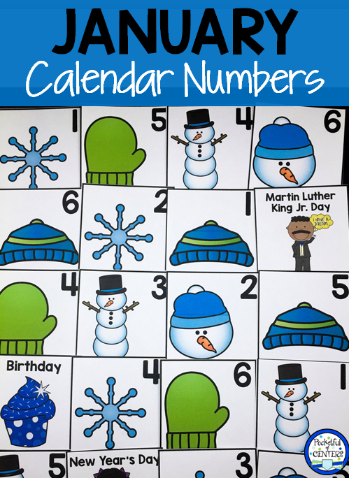 January Calendar Numbers | Calendar Numbers, January Printable Numbers 1-31 Classroom Sets