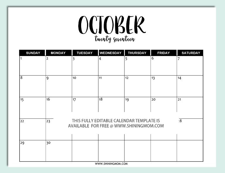 Julian Calendar – Printable Year Calendar 12 Month Editable Calendar