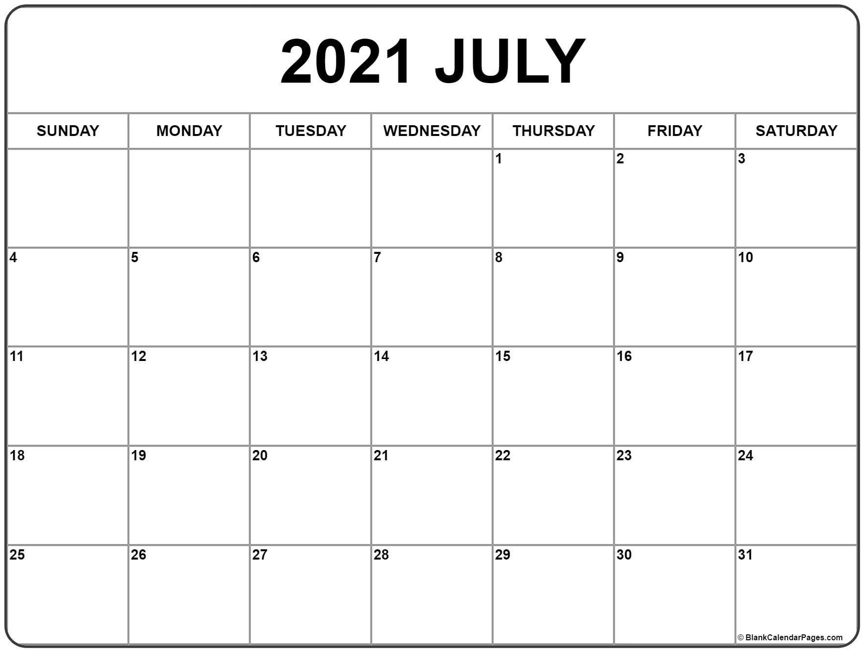 July 2020 – Page 2 – Template Calendar Design Fill In June Calendar