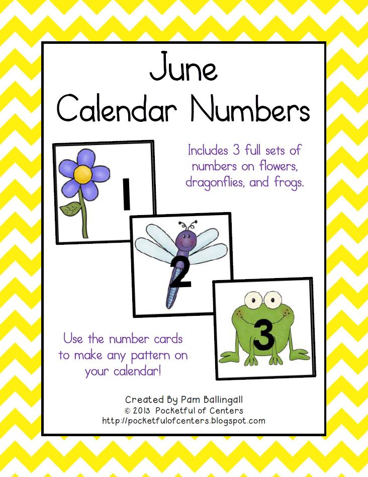 June Calendar Numbers | Calendar Numbers, Calendar Printable Numbers 1-31 Classroom Sets